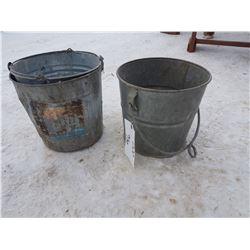 3 Galvanized Buckets