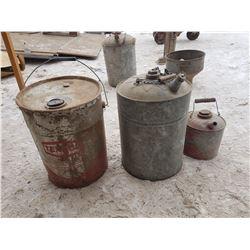 Texaco Tin & 2 Gas Cans