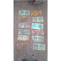 Lot Various Year Sask. Licence Plates