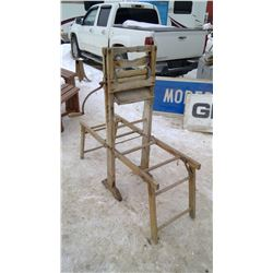 Double Washtub Stand With wringer