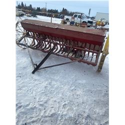 IHC SEED DRILL, WOODEN BOX, CAST ENDS, 10'