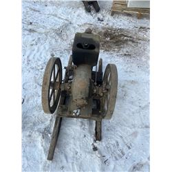 MCCORMICK STATIONARY ENGINE, OPEN WHEEL, TURNS FREELY