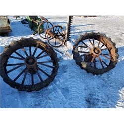 """2 steel wheels 44x10"""""""
