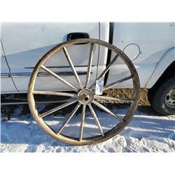"""massey harris wooden spoke wheel 46"""" X449"""