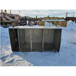 STAINLESS STEEL TANK, 3 COMPARTMENT, 6'L X 3'W X 3'T