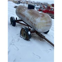 500 Gallon Propane Tank on Trailer