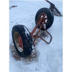 Front Tractor Axle & 2 Tires on Rims