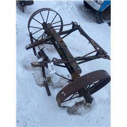 """Wagon Axle with 2x 28"""" Steel Wheels"""