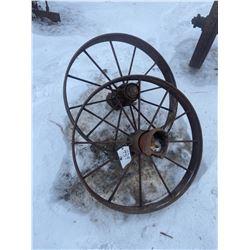 """2x 32"""" Steel Wagon Wheels"""