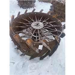 2 Steel Wheels 52 X 12 Inch