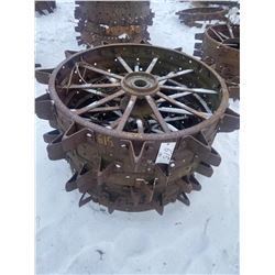 2 Steel Wheels 46 X 16 Inch