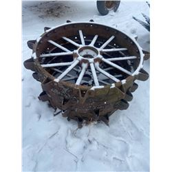 2 Steel Wheels 42 X 10 Inch