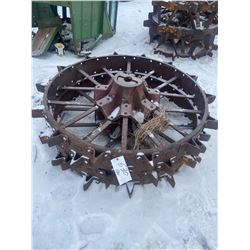 2 Steel Wheels 50 X 8 Inch