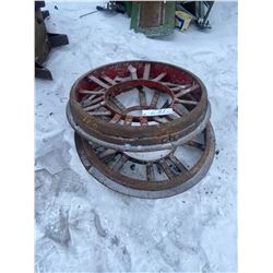 2 Steel Wheels 30 X 6 Inch