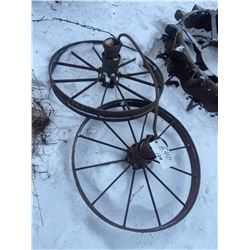 2 Steel Wheels 34 X 4 Inch