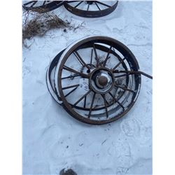 2 Steel Wheels 34 & 30 Inch