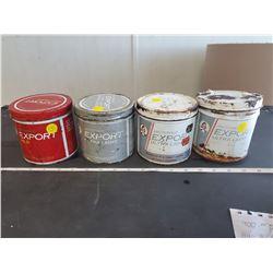 4 Export tobacco tins