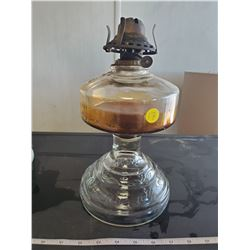 Coal oil lamp nice design in glass