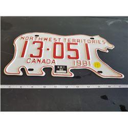 1981 Northwest Territories license plate