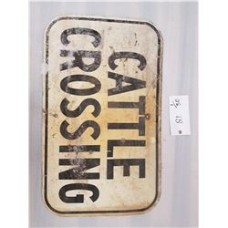 Cattle Crossing Sign 18 X 30 Inch
