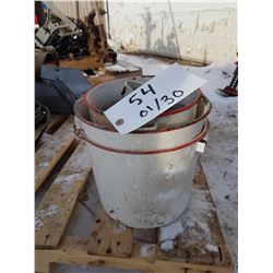 3 Enamelware Buckets