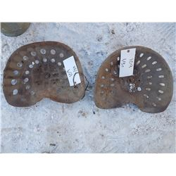 2 Pressed Tractor Seats