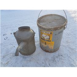 Water Can & 5 Gal Pail