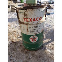 Texaco Metal Barrel