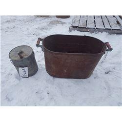 """Boiler Tub & Oil Can Tub (12""""x24""""x15"""")"""