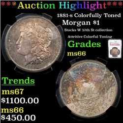 ***Auction Highlight*** NGC 1881-s Morgan Dollar $1 Graded ms66 By NGC (fc)
