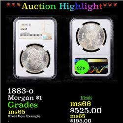 ***Auction Highlight*** NGC 1883-o Morgan Dollar $1 Graded ms65 By NGC (fc)