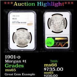 ***Auction Highlight*** NGC 1901-o Morgan Dollar $1 Graded ms65 By NGC (fc)