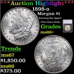 ***Auction Highlight*** 1898-o Morgan Dollar $1 Graded ms66+ By SEGS (fc)