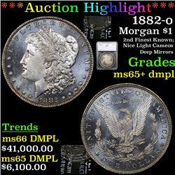 ***Auction Highlight*** 1882-o Morgan Dollar $1 Graded ms65+ dmpl By SEGS (fc)