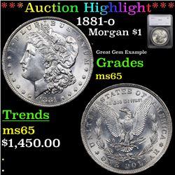 ***Auction Highlight*** 1881-o Morgan Dollar $1 Graded ms65 By SEGS (fc)
