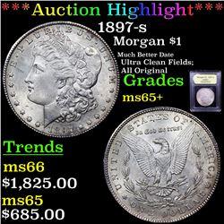 ***Auction Highlight*** 1897-s Morgan Dollar $1 Graded GEM+ Unc By USCG (fc)