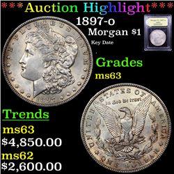***Auction Highlight*** 1897-o Morgan Dollar $1 Graded Select Unc By USCG (fc)