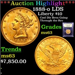 ***Auction Highlight*** 1888-o LDS Gold Liberty Eagle $10 Graded Select Unc By USCG (fc)