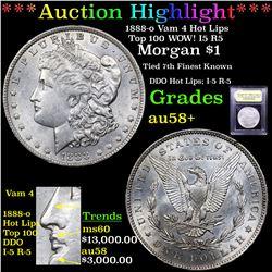 ***Auction Highlight*** 1888-o Vam 4 Hot Lips Top 100 WOW! I5 R5 Morgan $1 Graded Choice AU/BU Slide