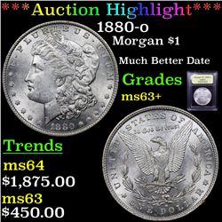 ***Auction Highlight*** 1880-o Morgan Dollar $1 Graded Select+ Unc By USCG (fc)