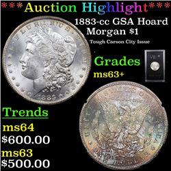 ***Auction Highlight*** 1883-cc GSA Hoard Morgan Dollar $1 Grades Select+ Unc (fc)
