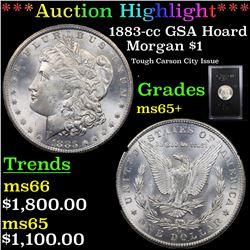 ***Auction Highlight*** 1883-cc GSA Hoard Morgan Dollar $1 Grades GEM+ Unc (fc)