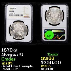 NGC 1879-s Morgan Dollar $1 Graded ms65 By NGC