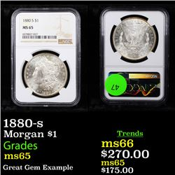 NGC 1880-s Morgan Dollar $1 Graded ms65 By NGC
