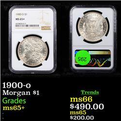 NGC 1900-o Morgan Dollar $1 Graded ms65+ By NGC