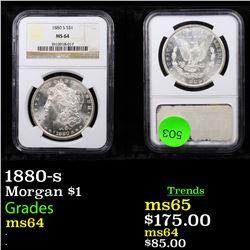 NGC 1880-s Morgan Dollar $1 Graded ms64 By NGC