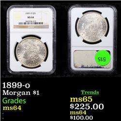 NGC 1899-o Morgan Dollar $1 Graded ms64 By NGC