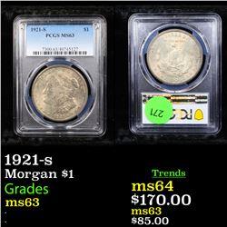 PCGS 1921-s Morgan Dollar $1 Graded ms63 By PCGS