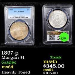 PCGS 1897-p Morgan Dollar $1 Graded ms64 By PCGS