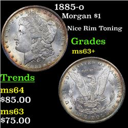1885-o Morgan Dollar $1 Grades Select+ Unc